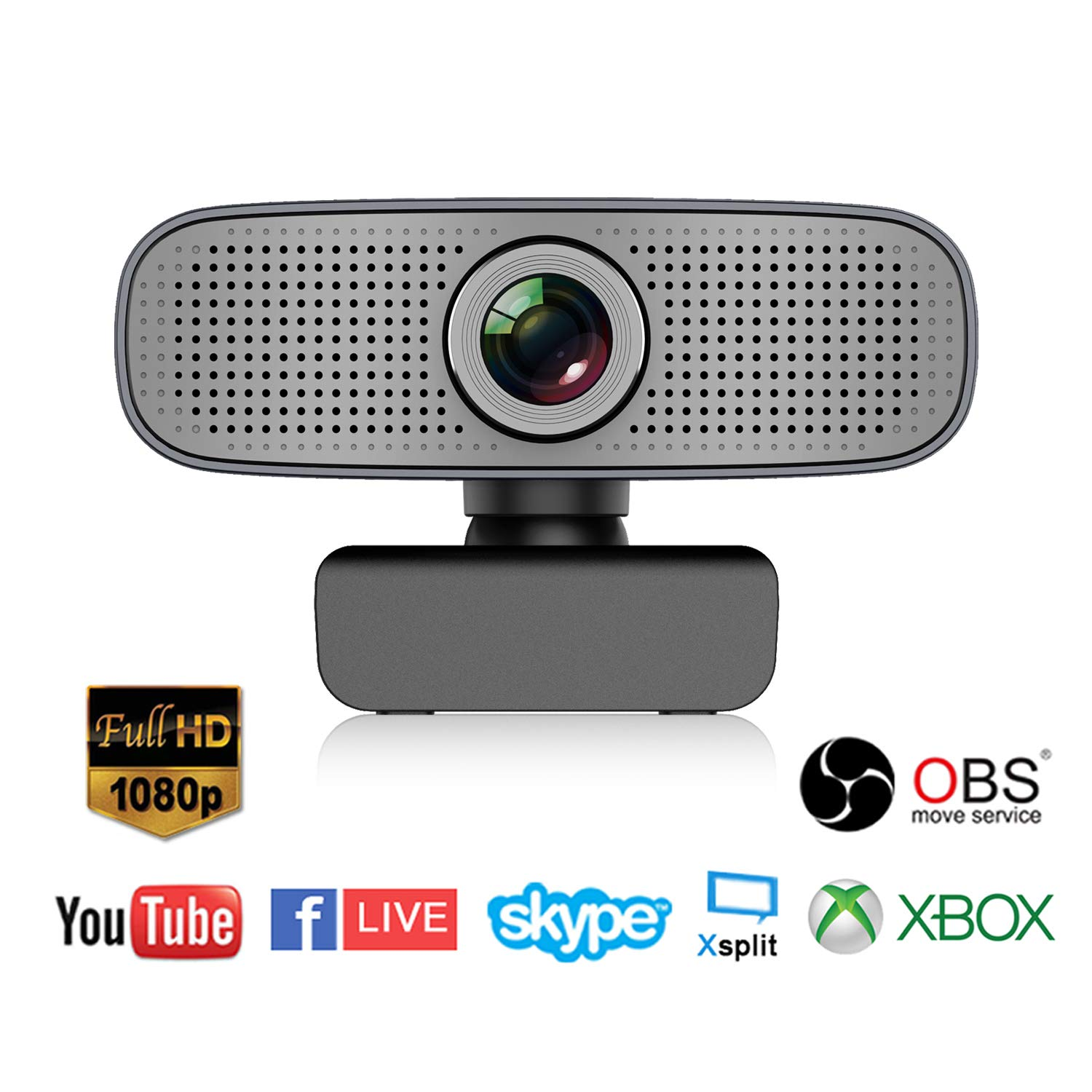 Spedal Full HD Webcam 1080p, Beauty Live Streaming Webcam, Computer Laptop Camera for OBS Xbox XSplit Skype Facebook, Compatible for Mac OS Windows 10/8/7