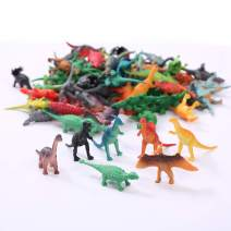 Fun Central 72 Pack - Vinyl Mini Dinosaur Party Favors - Dinosaur Figurines for Toddlers - Perfect for Party Pack and Easter Eggs Filtter