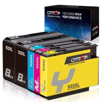 CMTOP 932XL Compatible Ink Replacement for HP 932XL 933XL 932 933 XL Ink Cartridges, Use in HP Officejet 6100 6600 6700 7110 7610 7612 Printer (2 Black 1 Cyan 1 Magenta 1 Yellow) 5-Packs
