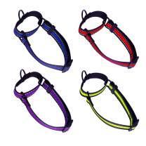D-buy Reflective Nylon Dog Collar, Martingale Reflective Dog Collar, Adjustable, Soft and Safety Dog Collar for Walking, Training, Daily Use