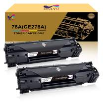 ONLYU Compatible Toner Cartridge Replacement for HP 78A CE278A Toner HP Laserjet P1606dn 1606dn HP Laserjet M1536dnf 1536dnf MFP HP Laserjet P1566 P1560 Toner Cartridge Printer Ink (2-Pack)