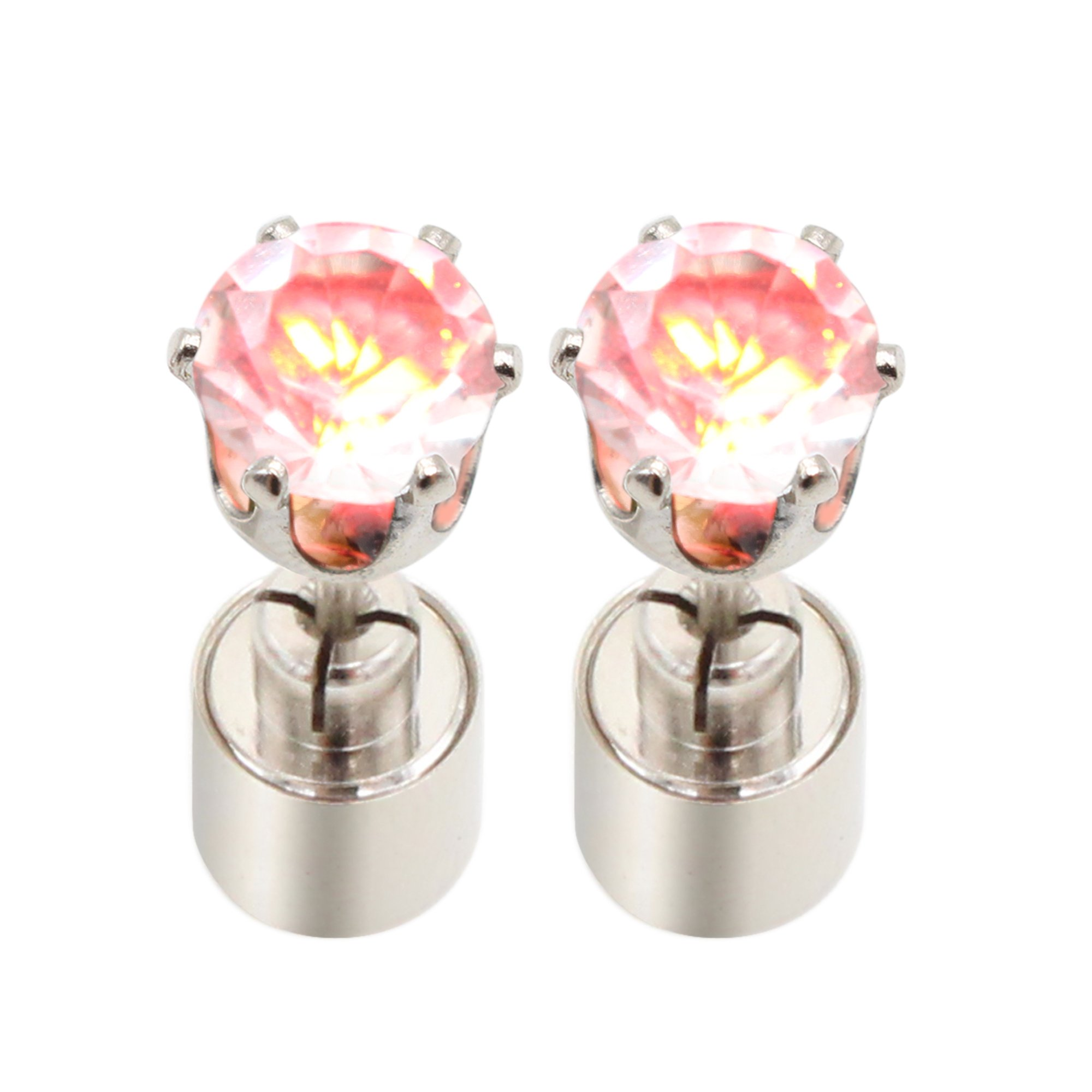 Led Earrings Bright Stylish Led Earring Glowing Light Up Earrings Ear Drop Crystal Pendant Glow Studs Flashing Stainless Steel Earrings Stud Dance Party Accessories Hallowmas Christmas Gifts