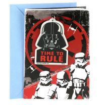 Hallmark Star Wars Birthday Card (Darth Vader Backpack Clip)