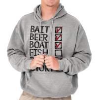 Bait Beer Boat Fish Rod Story Fishing List Hoodie