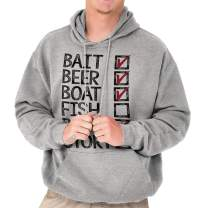 Bait Beer Boat Fish Rod Story Fishing List Hoodie