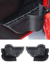 Savadicar DP3 Front Door Storage Pockets, Door Side Insert Organizer Box for 2011-2018 Jeep Wrangler JK JKU 2/4 Door, Interior Storage Expansion Accessories, Black, 2PCS (Latest Upgraded Version)