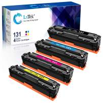 LxTek Remanufactured Toner Cartridges Replacement for Canon 131 131H to use with LBP7110Cw MF624Cw MF628Cw MF8280Cw Printer (Black, Cyan, Magenta, Yellow, 4 Pack)