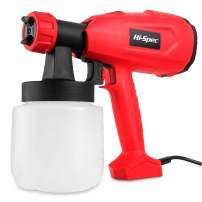Hi-Spec 2.2A Electric Paint Spray HVLP Gun with 27fl.oz. Paint Holder for Applying Paint, Lacquers, Stains, Varnish, Fine Finishes to Interior & Exterior Projects Finish Sprayer