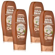 Garnier Whole Blends Conditioner with Coconut Oil & Cocoa Butter Extracts, 12.5 Fl Oz, Pack of 4