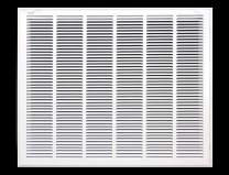 """32"""" X 24"""" Steel Return Air Filter Grille for 1"""" Filter - Removable Face/Door - HVAC Duct Cover - Flat Stamped Face -White [Outer Dimensions: 33.75w X 25.75h]"""