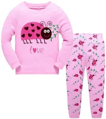 Girls Pajamas Long Sleeve Unicorn Mermaid Kids PJs 100/%Cotton Toddler Sleepwear Clothing Sets
