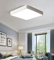 Ganeed LED Flush Mount Ceiling Light,15.7 inch 36W Modern Ceiling Lamp Square,6500K Cool White Lighting Fixture for Living Room/Kitchen/Bedroom/Dining Room,White