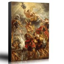 wall26 - Oil Painting of Triumphal Entry of Ferdinand of Austria into Antwerp by Peter Paul Rubens - Baroque Style - Angels - Canvas Art Home Decor - 24x36 inches