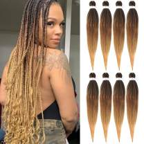 Pre-stretched Braids Hair Professional Itch Free Hot Water Setting Synthetic Fiber Ombre Yaki Texture Braid Hair Extensions Beyond Beauty Braiding Hair 8 Packs 26 Inch 1B-30-27