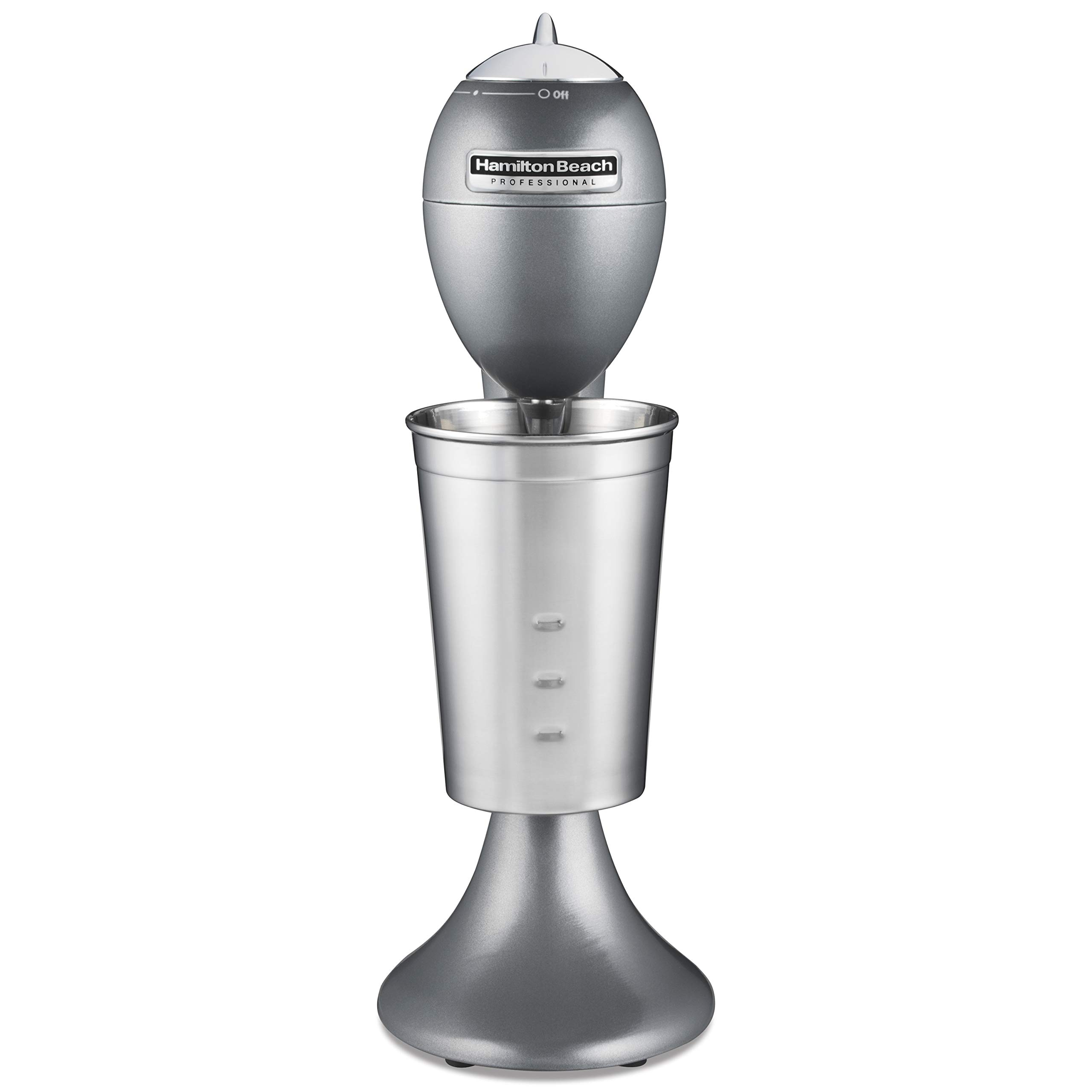 Hamilton Beach Pro Retro Die-Cast Mixer for Milkshakes, Soda Fountain Drinks, Protein Shakes, Whipping Omelets and Pancake Batter, 28 Oz Cup (65120), Gray