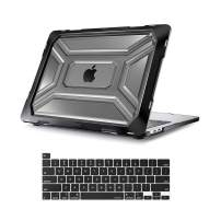 MOSISO MacBook Pro 13 inch Case 2020 Release A2338 M1 A2289 A2251, Heavy Duty Plastic Hard Shell Case with TPU Bumper&Keyboard Cover Only Compatible with MacBook Pro 13 inch with Touch Bar, Black