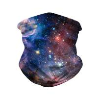 KAKALOT Unisex Galaxy Print Magic Headband Face Cover Sports Headwear Headwrap Multifunction Seamless Bandanas