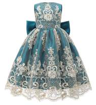 ABAO SISTER Baby Girls Flower Girl Dress Infant Princess Ball Gown Birthday Party Formal Dresses