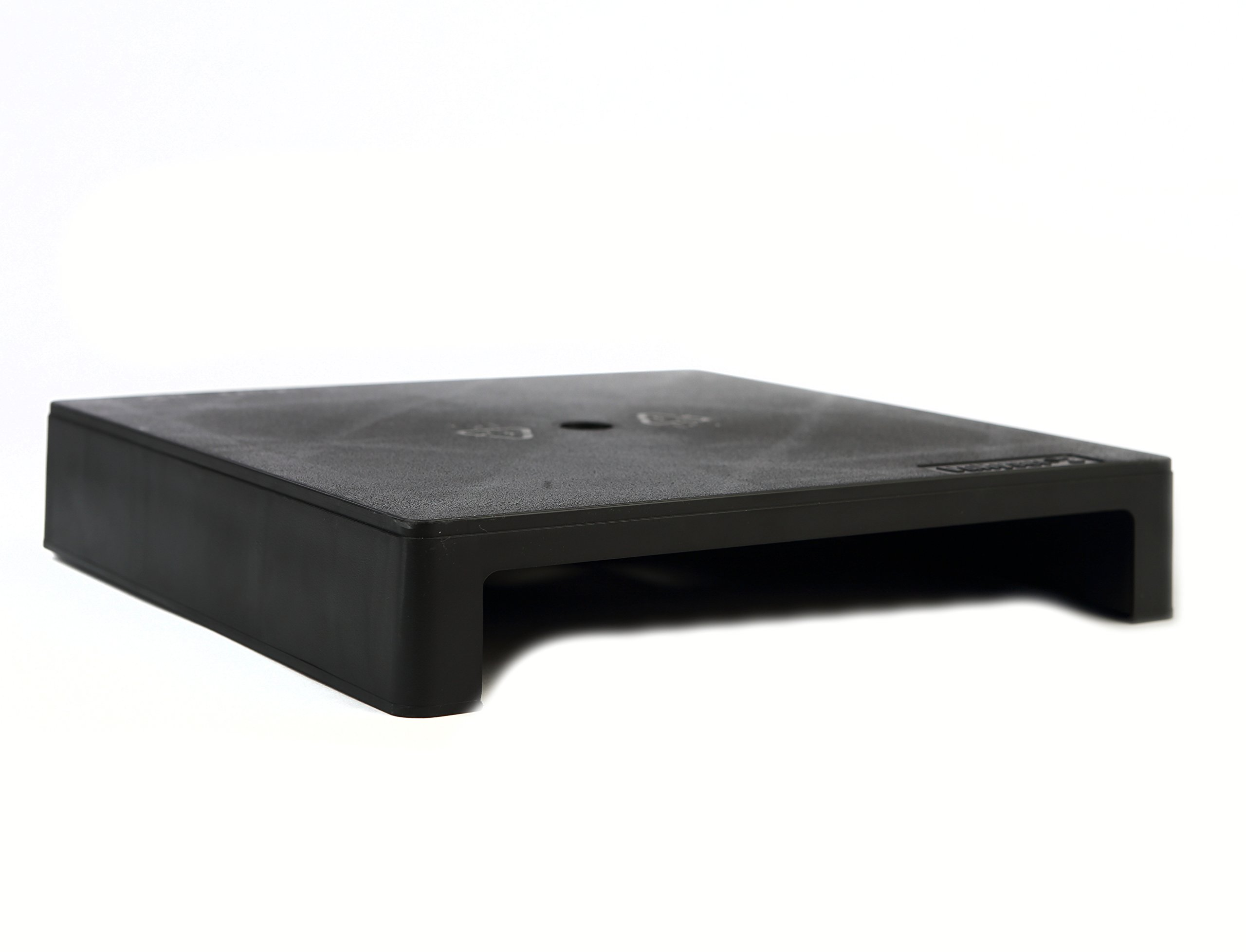 Vu Ryte Stackable 2 Inch Computer Monitor Stand, VuRyser 2, 11.37 X 11.37 X 2 inches, Graphite, Set of 2 (VUR 4855). 100% MADE IN USA.