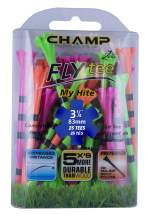 """Champ 86513 Zarma Flytee My Hite 3-1/4"""" 25 Count Citrus Mix with Black Stripes Golf Tees"""