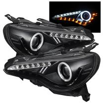 Spyder 5075444 Subaru BRZ 12-19 (Xenon model only) / 12-19 FRS (Xenon model only) Projector Headlights - CCFL Halo - DRL LED - Black