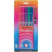 Sakura 58175 5-Piece Gelly Roll Blister Card Moonlight 06 Fine Point Gel Ink Pen Set, Assorted Dusk Colors