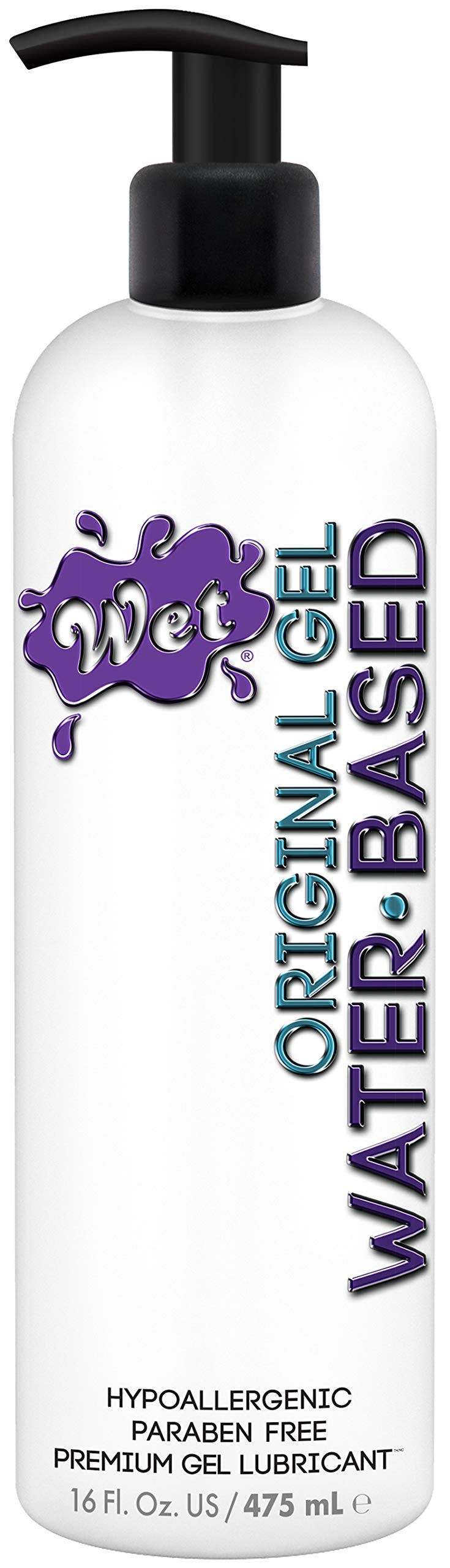 Wet Original Personal Lubricant Water Based Lube 16 Ounce Bottle