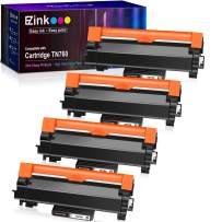 E-Z Ink (TM) with Chip Compatible Toner Cartridge Replacement for Brother TN760 TN 760 TN730 to use with HL-L2350DW DCP-L2550DW HLL2395DW HLL2390DW HL-L2370DW MFC-L2750DW MFC-L2710DW (Black,4 Pack)