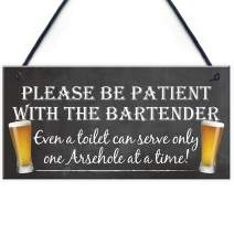 Novelty Hanging Plaque Pub Landlord Beer Bar Gift Funny Wall Sign Man Cave Xmas