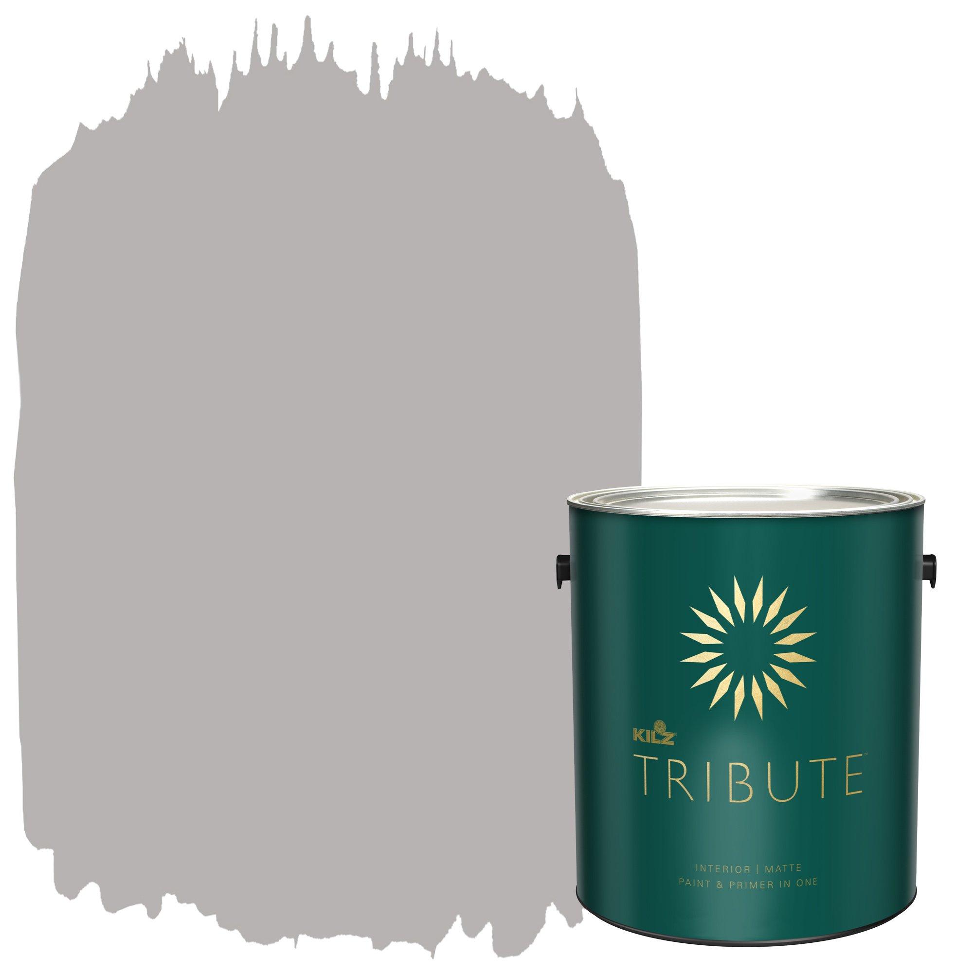 KILZ TRIBUTE Interior Matte Paint and Primer in One, 1 Gallon, Postcard (TB-25)