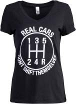 Real Cars Don't Shift Themselves   Funny Auto Racing Mechanic Manual T-Shirt