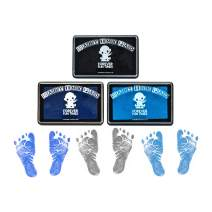 Baby Hand and Footprint Kit by Forever Fun Times | Get Hundreds of Detailed Prints with One Baby Safe Ink Pad | Easy to Clean, and Works with Any Paper or Card | Clean and Safe (B Bundle (Updated))