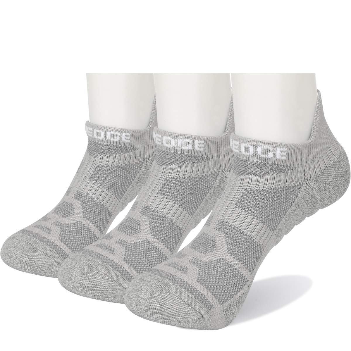 YUEDGE Athletic Ankle Socks Comfort Breathable Moisture Wicking No Show Running Low Cut Socks for Men Size 6-12