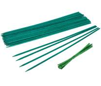 YHmall 25 Pcs Green Wood Plant Stakes, Floral Plant Support Stakes Wooden, Wooden Sign Posting Garden Sticks (15 inch)