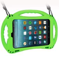 TopEsct Kid-Proof Case for All-New Amazon Fire HD 8,Compatible with 7th and 8th Generation Kindle Fire 8 inch, 2017 and 2018 Releases,Handle Stand Cover Case for Kids (Green)