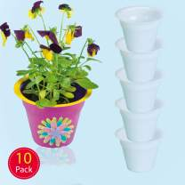 Baker Ross Mini Ready to Paint Plastic Planters, for Kids to Decorate and Display (Pack of 10)