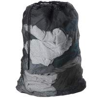 Meowoo Large Mesh Laundry Bag with Drawstring,27×35inch Large Laundry Bags for Delicates Heavy Duty Net Wash Bag for Washing Machine-Black