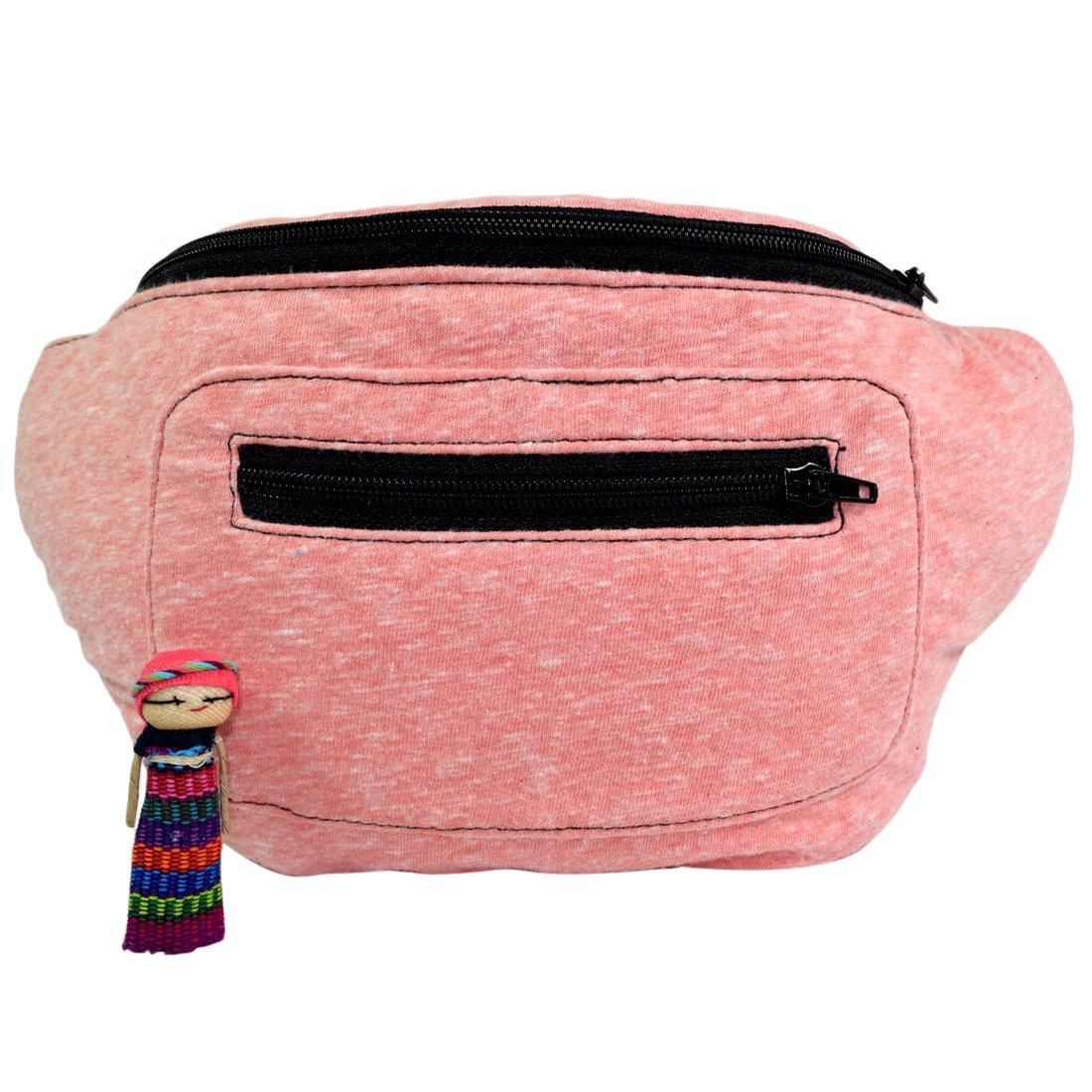 Bright Fanny Pack, Stylish Party Boho Chic Handmade with Hidden Pocket
