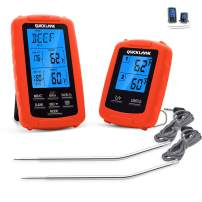 Meat thermometer digital grill oven or smoker remote food thermometers (cherry)