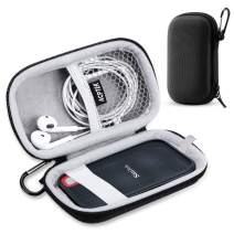 Hard Travel Carrying Case for SanDisk Extreme 250GB, 500GB, 1TB, 2TB External Portable SSD Solid State Drive by AGPTEK