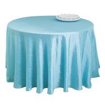 "SARO LIFESTYLE FBA A108R LN817 Especial Round Tablecloth Liner 108"" Aqua"