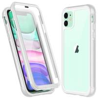 Temdan iPhone 11 Case,Full Body Built in Screen Protector Multi-Directional Bumper Case Support Wireless Charging, Heavy Duty Rugged Dropproof Cases for iPhone 11 6.1 inch 2019 (White)