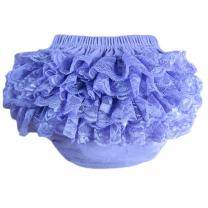 Lisianthus Baby Girls' Lace Ruffles Bloomers Diaper Cover