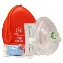 Pack of 50 MCR Medical CPR Rescue Mask, Adult/Child Pocket Resuscitator, Hard Case with Wrist Strap