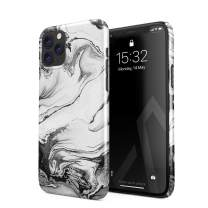 BURGA Phone Case Compatible with iPhone 11 PRO - Silver Flow Water Grey Black and White Marble Cute Case for Girls Thin Design Durable Hard Shell Plastic Protective Case