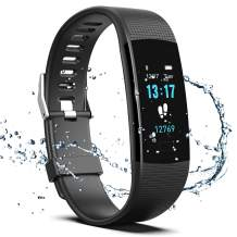 Fitness Tracker HR, Y1 Activity Tracker Watch with Heart Rate Monitor, Pedometer IP67 Waterproof Sleep Monitor Step Counter for Android & iPhone