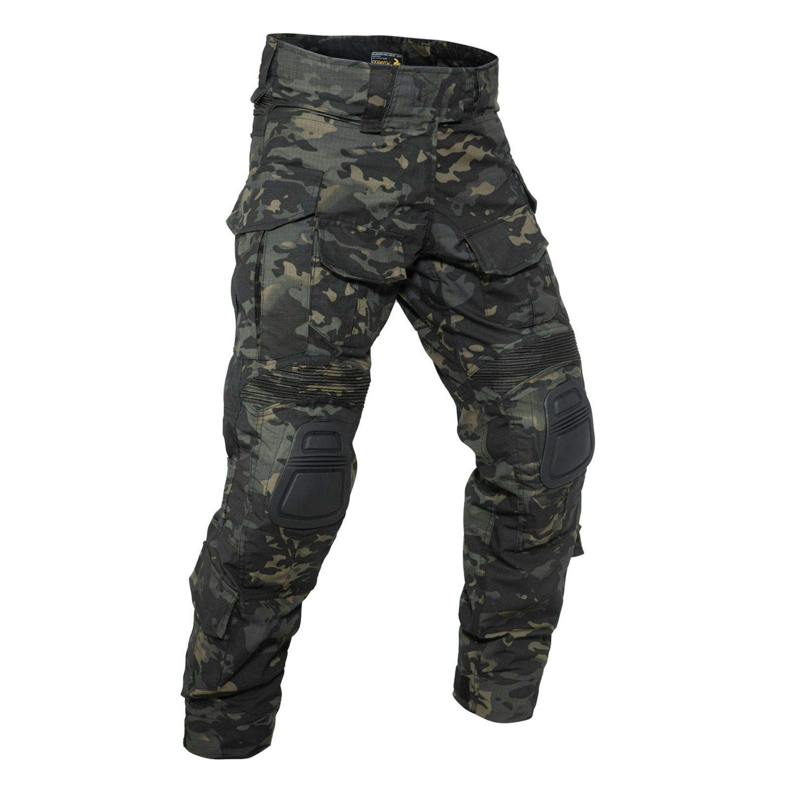 YEVHEV G3 Combat Tactical Pants Camouflage with Knee Pads for Men Paintball Clothing Gear(Belt not Included)