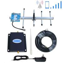 AT&T Cell Phone Signal Booster 4G LTE T-Mobile Band12/17 Cell Signal Booster ATT Cell Phone Booster Amplifier Repeater 700Mhz AT&T Signal Booster Phonelex Mobile Signal Booster with Whip+Yagi Antennas