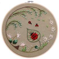 Full Range of Embroidery Kits for Starters with Beetle Pattern (7153-1)