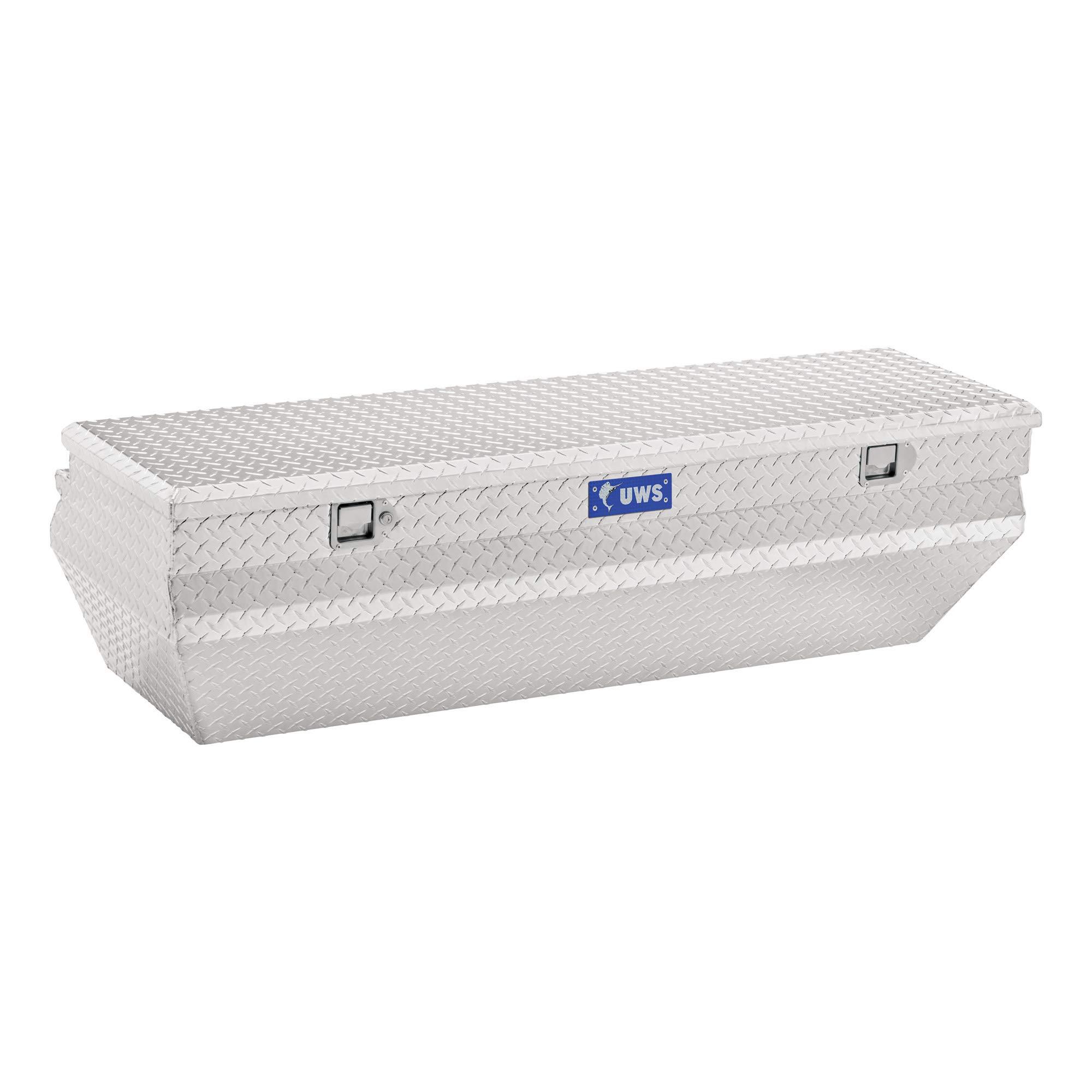 UWS EC20311 55-Inch Heavy-Wall Aluminum Wedge Angled Truck Storage Box, RigidCore Lid